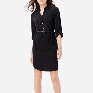 The Limited Ashton Black Shirt Dress w Gold Button